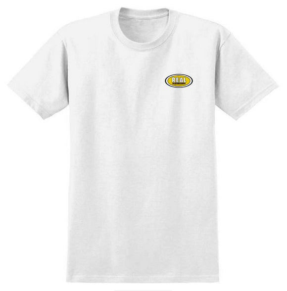 Real - Small Oval Tee | White