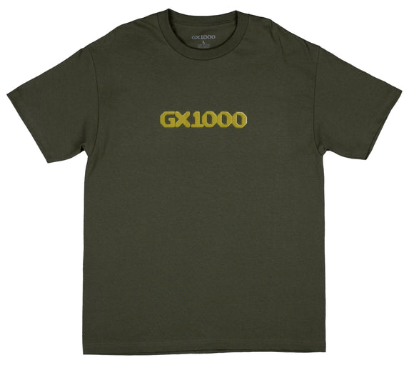 GX1000 - Dithered Logo Tee | Military Green