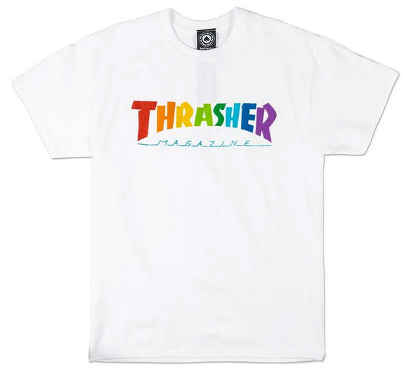 Thrasher - Rainbow Mag Tee | White