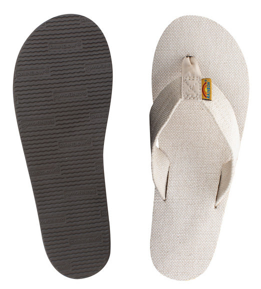 Rainbow - Women's Single Layer Hemp Sandals | Natural