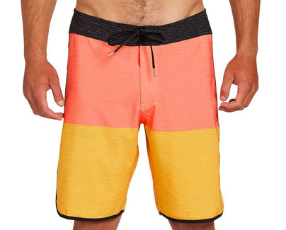 Volcom - Lido Heather Scallop Mod Boardshorts | Mineral Yellow
