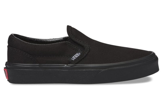 Vans - Kids Classic Slip-On Shoes | Black Black