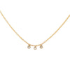 Petite Diamond Bezel Drop Necklace