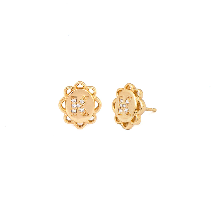 Tucker James Designs Elizabeth Signet Earrings