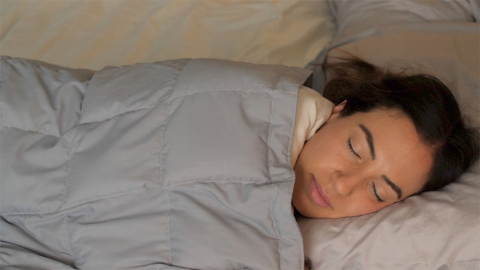 Positive Effects of  a Weighted  Blanket on Insomnia