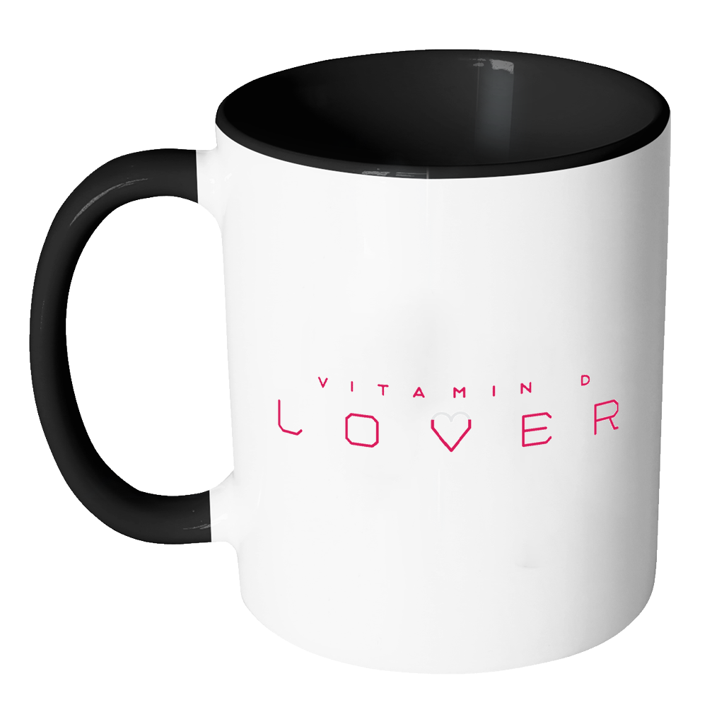 The Sun Life 'Vitamin D Lover' Accent Coffee Mug ~ Pink