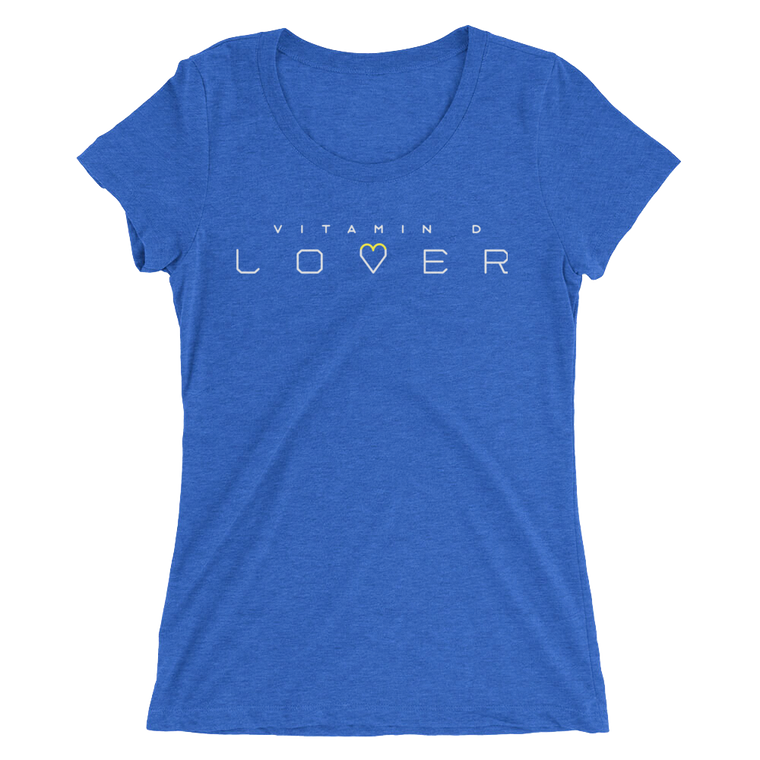 'Vitamin D Lover' Ladies t-shirt ~ Royal Blue