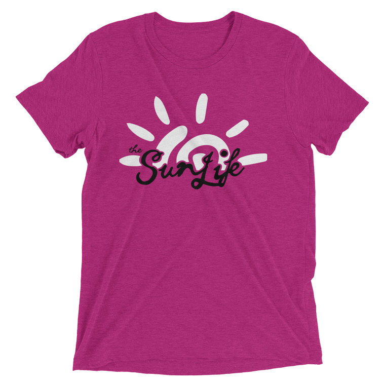 The Sun Life 'Vibrant' Mens t-shirt ~ Berry