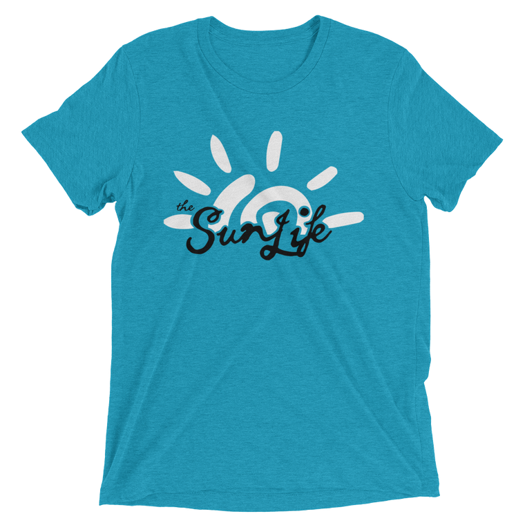 The Sun Life 'Vibrant' Mens t-shirt ~ Aqua