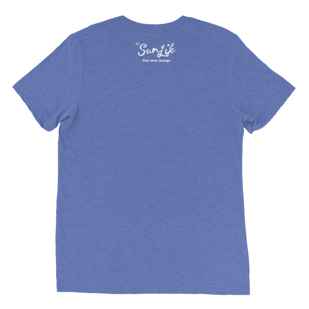 The Sun Life 'Vibrant' Mens t-shirt ~ Blue