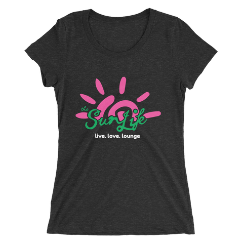 The Sun Life 'Vibrant' Ladies t-shirt ~ Charcoal Black