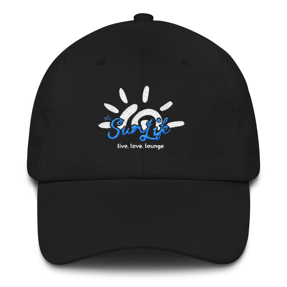 'Vibrant' TSL Hat ~ Black with White/Blue