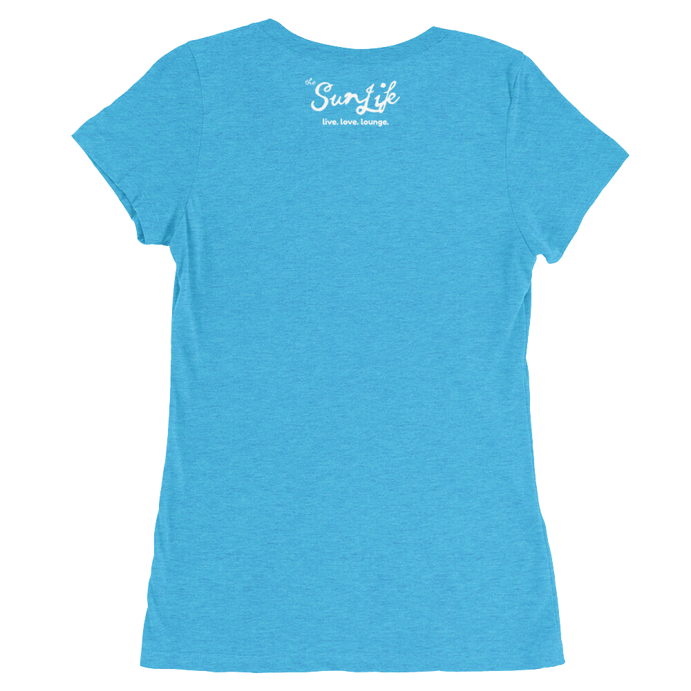 The Sun Life 'Vibrant' Ladies t-shirt ~ Aqua