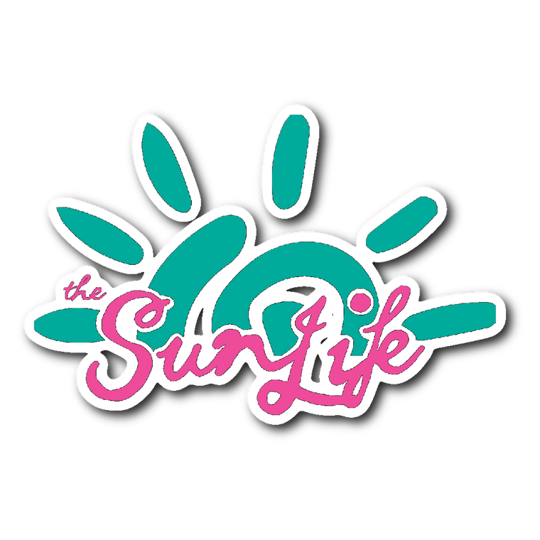 The Sun Life Sticker ~ Aqua/Pink