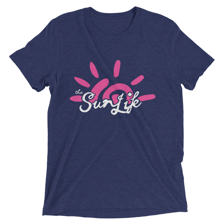 The Sun Life 'Vibrant' Mens t-shirt ~ Navy