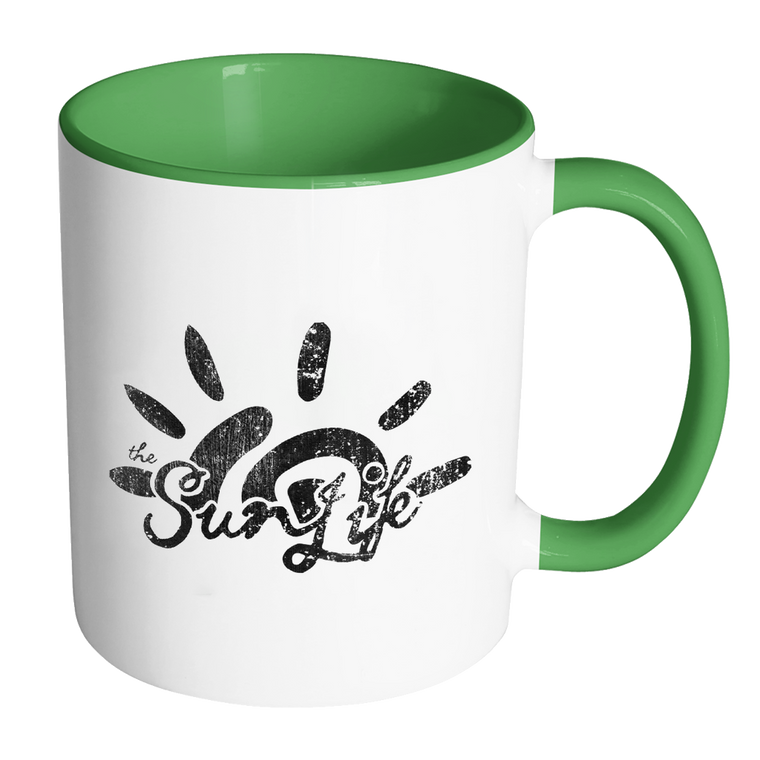 The Sun Life 'Heritage' Accent Coffee Mug ~ Green