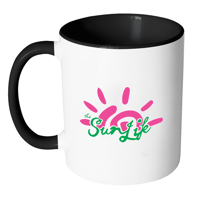 The Sun Life 'Vibrant' Accent Coffee Mug ~ Black