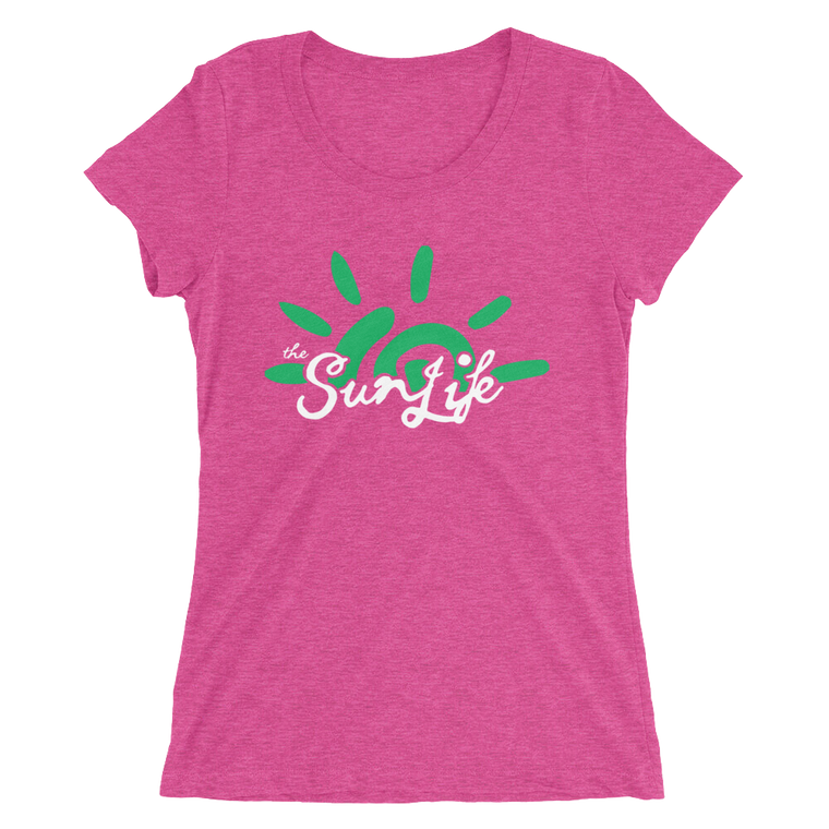 The Sun Life 'Vibrant' Ladies t-shirt ~ Berry