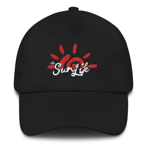 'Vibrant' TSL Hat ~ Black with Red/White