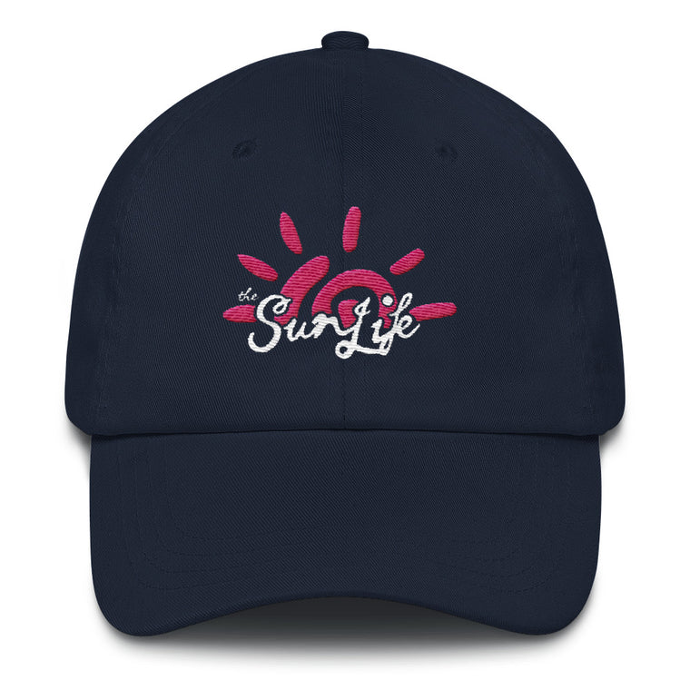 'Vibrant' TSL Hat ~ Navy with Pink/White