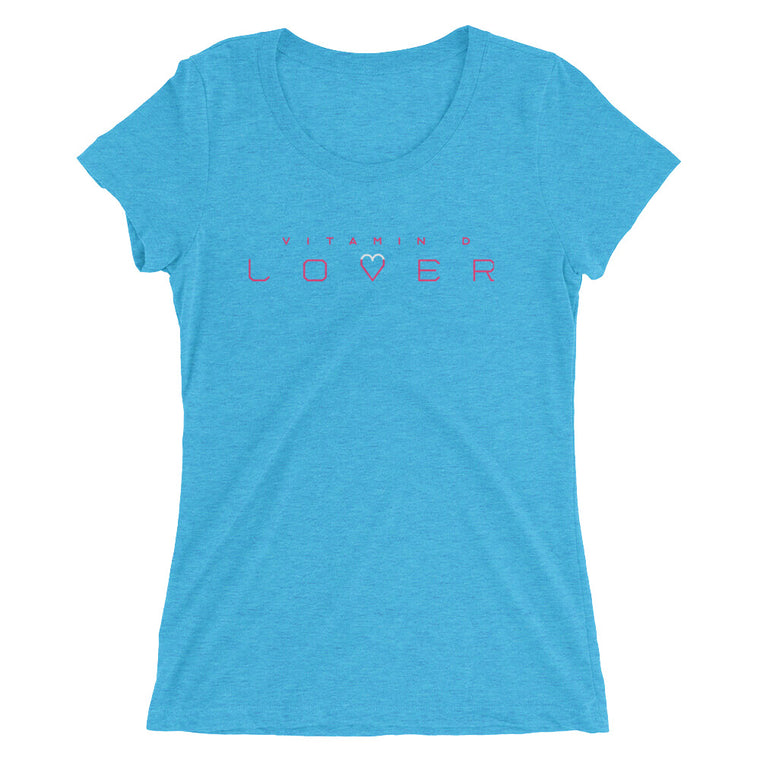 'Vitamin D Lover' Ladies t-shirt ~ Aqua
