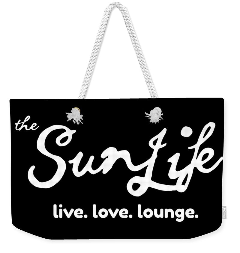 The Sun Life Weekender Tote Bag ~ White/Black