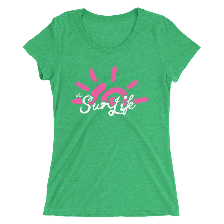 The Sun Life 'Vibrant' Ladies t-shirt ~ Envy Green