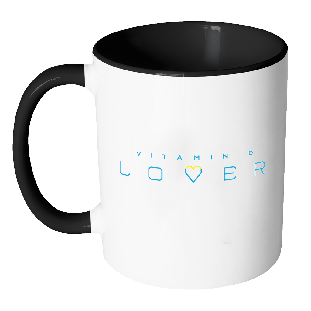 The Sun Life 'Vitamin D Lover' Accent Coffee Mug ~ Light Blue