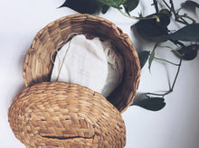 Vintage Round Crosshatch Basket