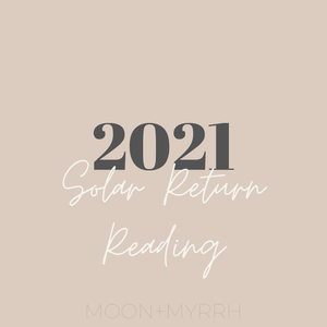 Astrological Counseling//Solar Return Reading