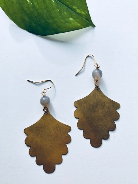 Monstera Earring
