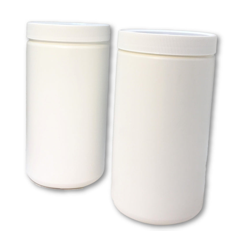 1 liter white cosmetic jar with lid - karmasuds.com
