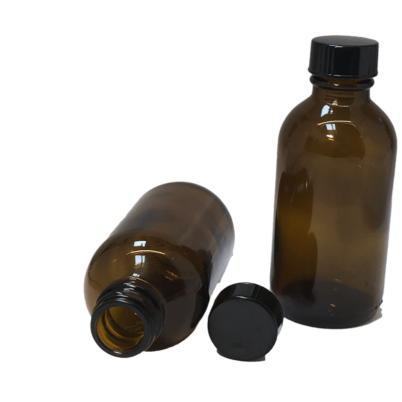 100 ml amber glass bottle with lid - karmasuds.com