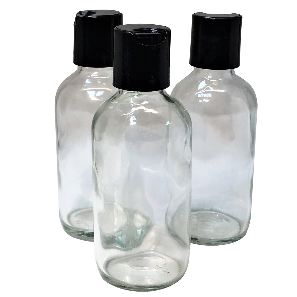 100 ml clear glass with disk lid - karmasuds.com