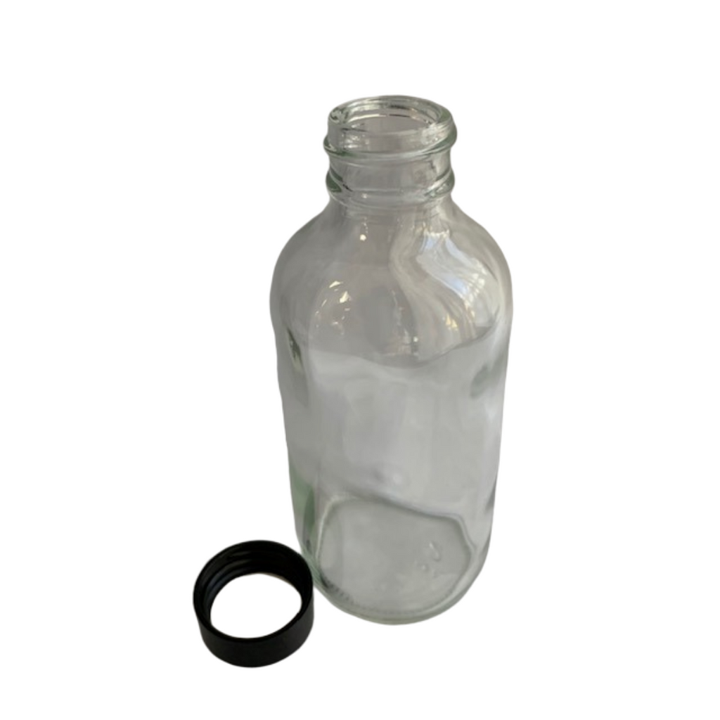 120 mL Clear Glass Bottle with Cap