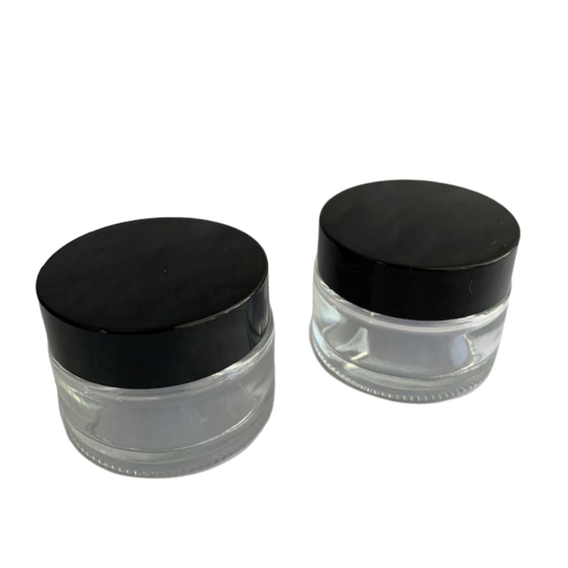 1 ounce clear glass jars