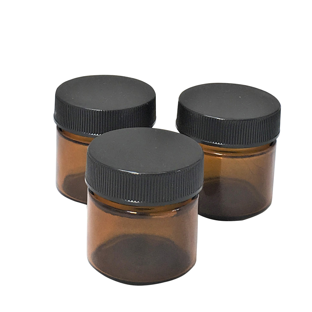 25 ml amber glass jar with lid,packaging - Karma Suds