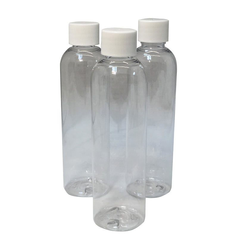 120 ml - 4 ounce  clear bullet bottle with white top - karmasuds.com