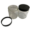 4 ounce clear glass jars