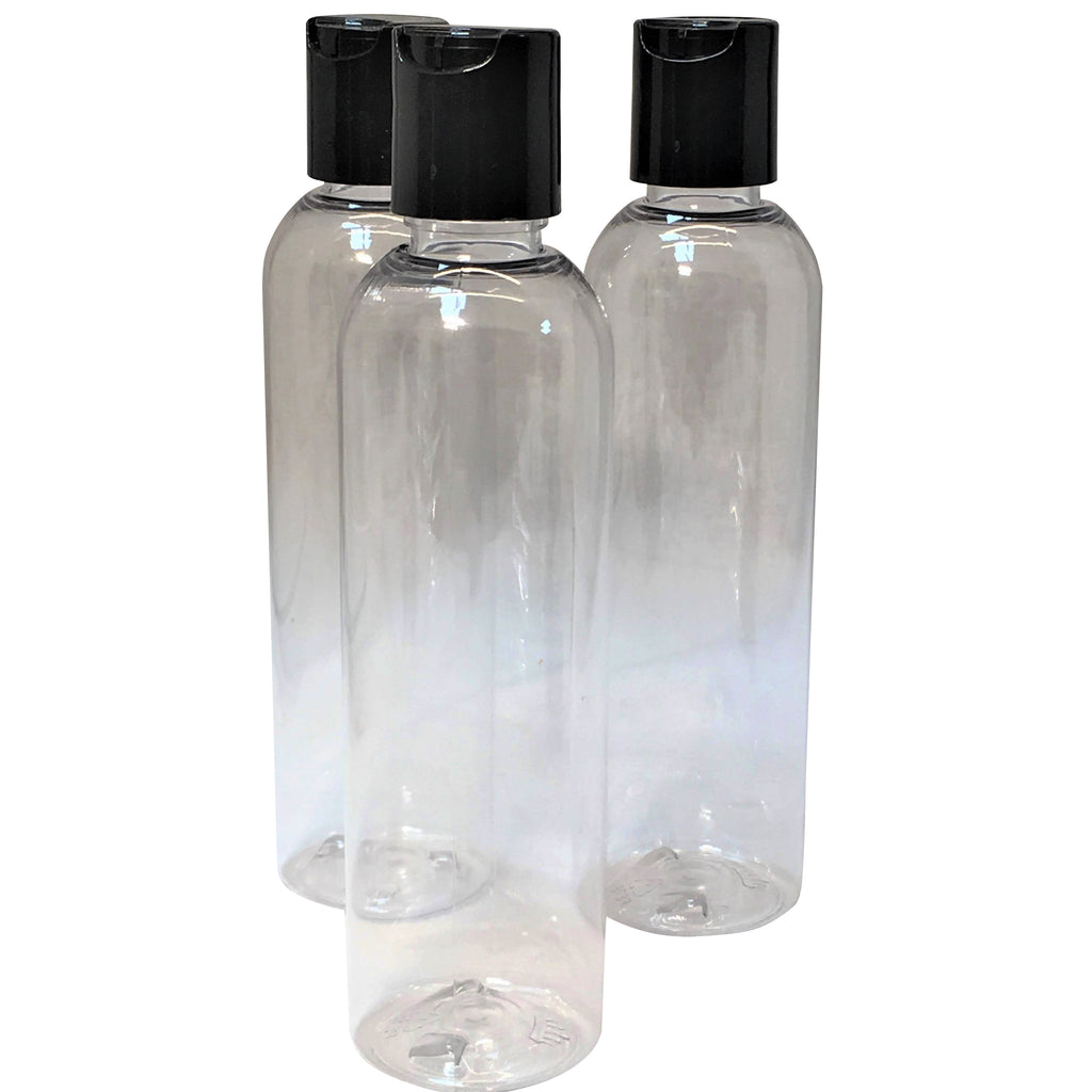 8 ounce clear bottle with disk top