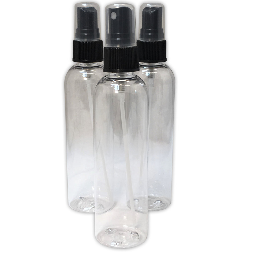8 ounce clear bottle with spray top