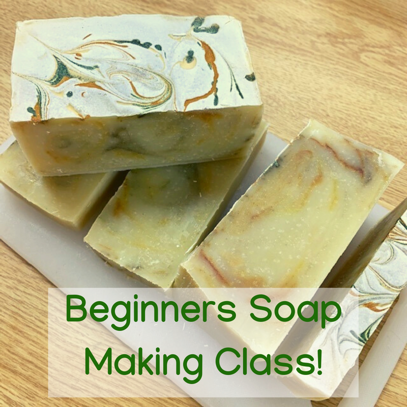 Beginners Cold Process Organic Soap Making Class - Palm Oil Free