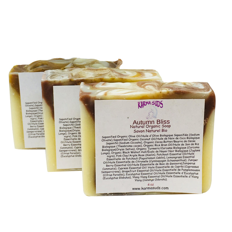 Autumn Bliss - Natural Organic Bar Soap - over 4 oz,Soap - Karma Suds