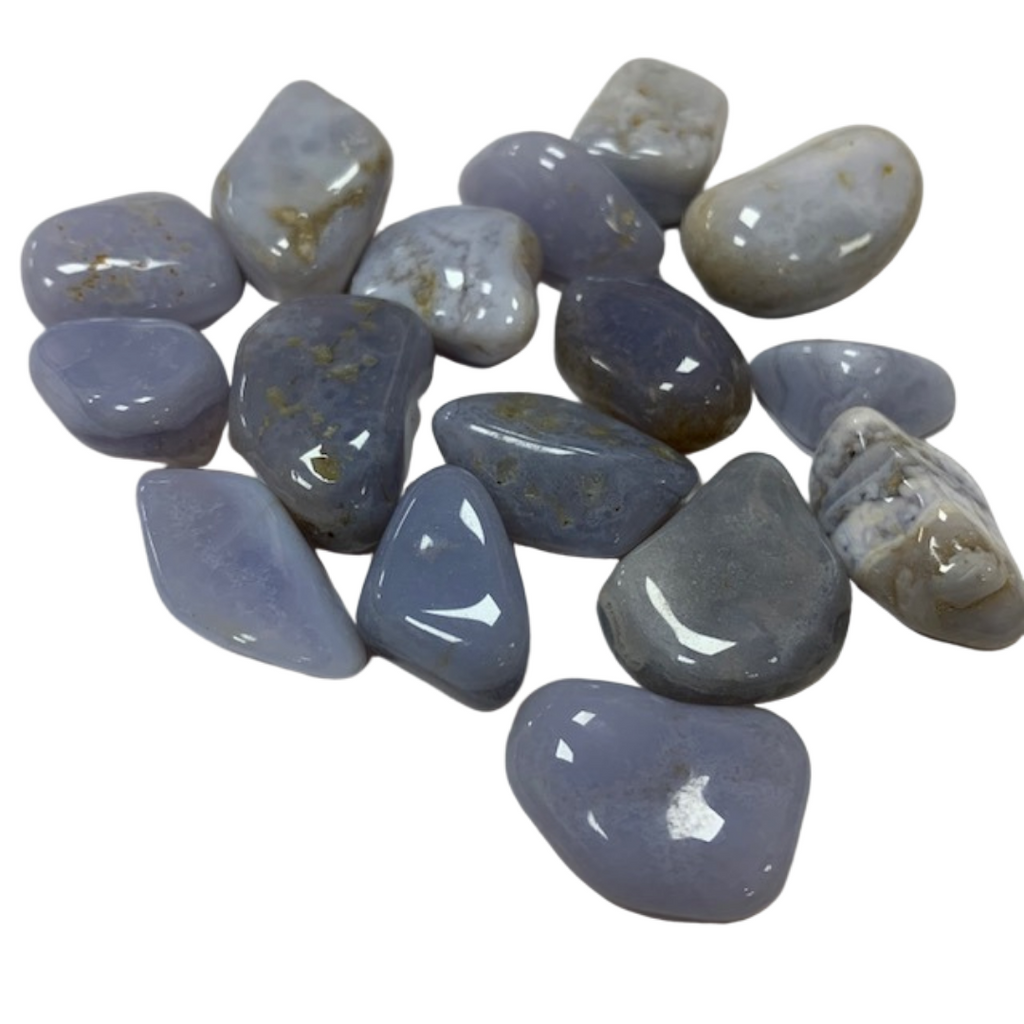 Blue Lace Agate - Reiki infused tumbled stones