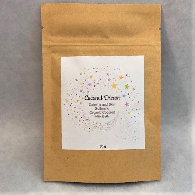 Coconut Dream - Calming & Skin Softening Organic Coconut Milk Bath - 30 grams