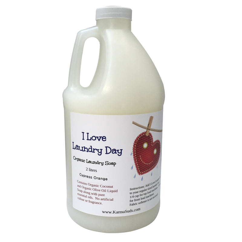 I Love Laundry Day - Organic Laundry Soap - 2 L,Household Products - Karma Suds