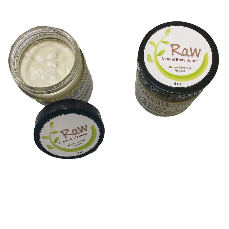 Raw Body Butter 4 oz *New glass packaging*