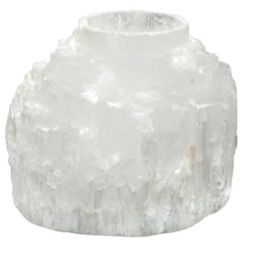 Selenite Candle Holder,Stones - Karma Suds