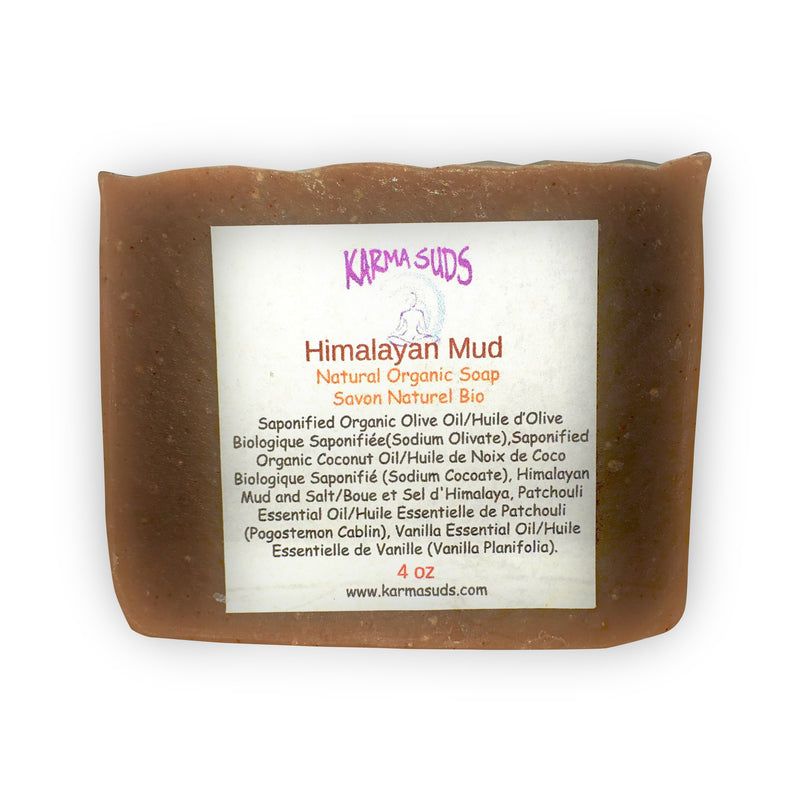 Himalayan Mud - Natural Organic Bar Soap - over 4 oz,Soap - Karma Suds