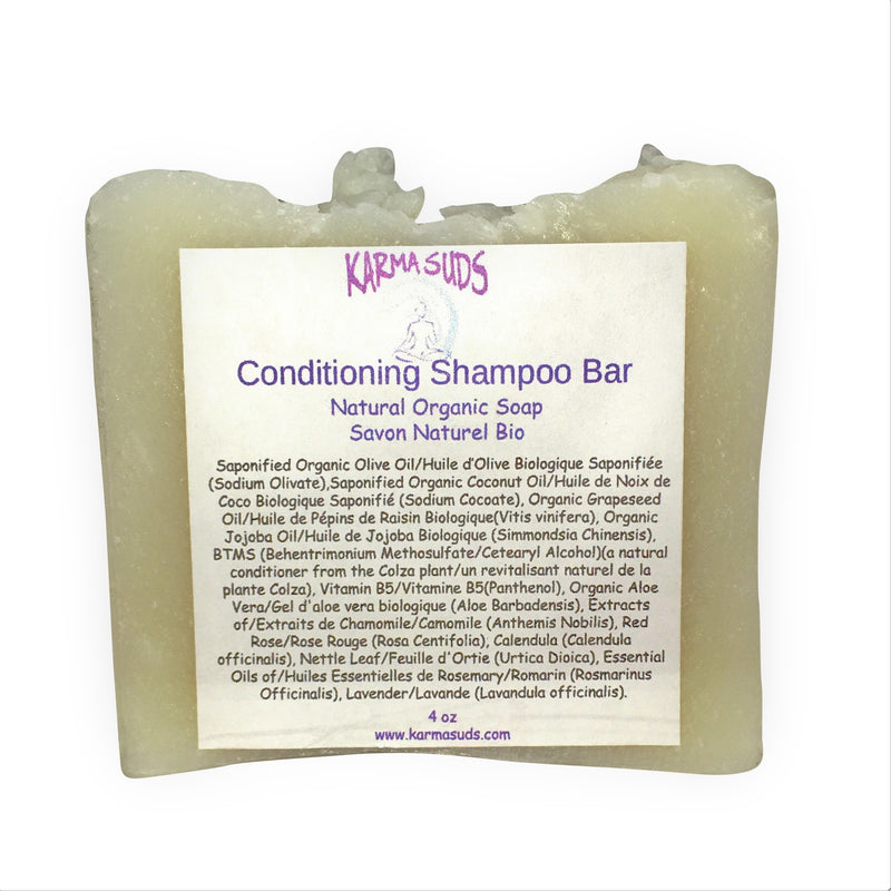 Conditioning Shampoo - Natural Organic Bar Soap - over 4 oz,Soap - Karma Suds